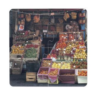 Área de Europa, Italia, Venecia. Frutas coloridas Posavasos De Puzzle