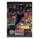 Área de Europa, Italia, Venecia. Frutas coloridas  Tarjetón