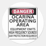 Área de funcionamiento de Ocarina Etiqueta Redonda