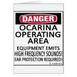 Área de funcionamiento de Ocarina Felicitaciones
