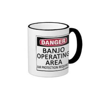 Área de funcionamiento del banjo taza de café
