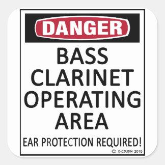 Área de funcionamiento del clarinete bajo colcomanias cuadradases