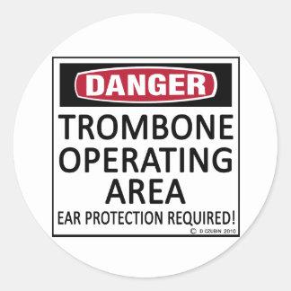 Área de funcionamiento del Trombone Etiqueta