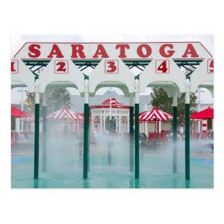 Área de juego de piscina de Saratoga Springs Tarjeta Postal