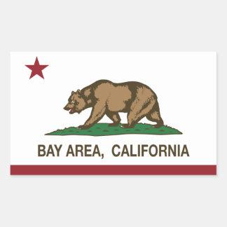Área de la bahía de la república de California Rectangular Pegatina