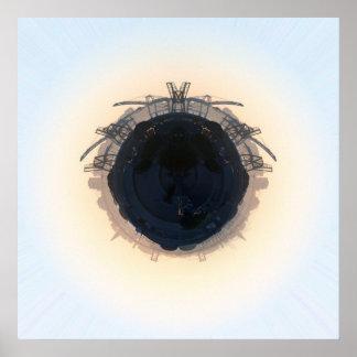 Área de la bahía del planeta póster