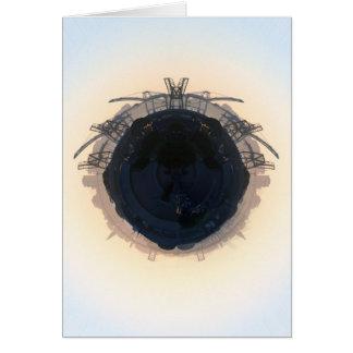 Área de la bahía del planeta tarjeta de felicitación