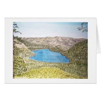 área del lago Tahoe. lago del donner Tarjeta De Felicitación