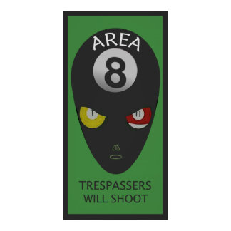Area Eight Door Poster