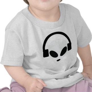 área extranjera 51 del auricular de DJ Camiseta