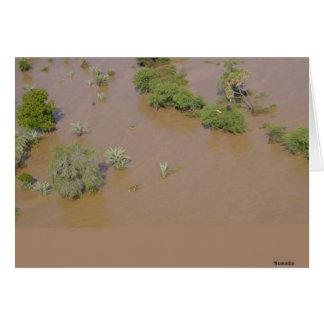 Área inundada tarjeta de felicitación