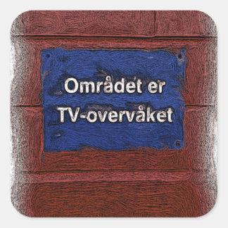 Area is tv monitored square sticker
