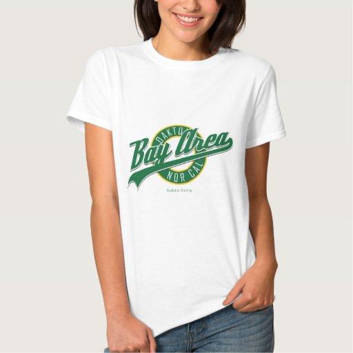 Área Oaktown de la bahía T-shirts