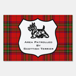 Area Patrolled By Scottish Terrier Sign