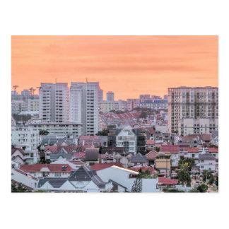 Área residencial de Kembangan en la postal de Sing
