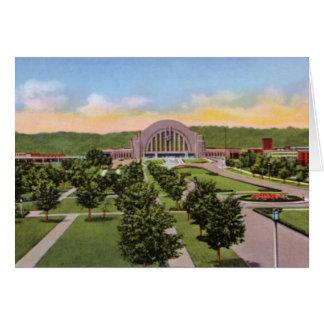 Área terminal de la unión de Cincinnati Ohio Felicitacion