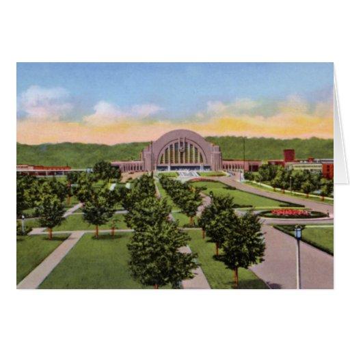 Área terminal de la unión de Cincinnati Ohio Tarjeta De Felicitación