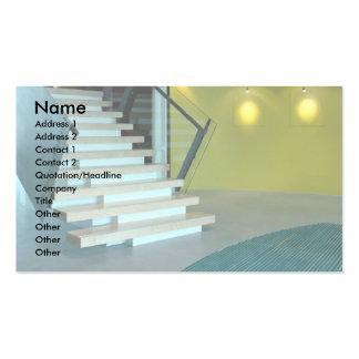 Área y escalera de recepción para el diseño de neg tarjetas de visita