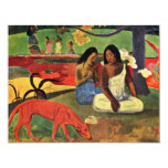 Arearea By Gauguin Paul (Best Quality) 4.25x5.5 Paper Invitation Card