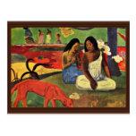 Arearea By Gauguin Paul (Best Quality) Postcard