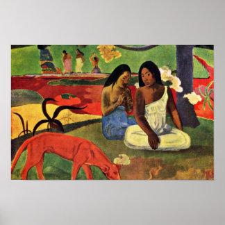 Arearea de Gauguin Paul (la mejor calidad) Póster