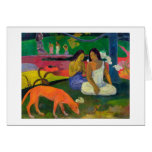 Arearea (el perro rojo), 1892 tarjeta de felicitación