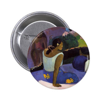 """Arearea ningún botón de Varua Ino"" - Paul Gauguin Pin"