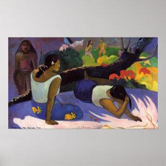 Arearea ningún Varua Ino - impresión de Paul Gaugu Impresiones