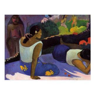 """""""Arearea ninguna postal de Varua Ino"""" - Paul Gaugu"""