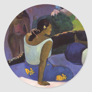'Arearea no Varua Ino' - Paul Gauguin Sticker