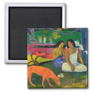 Arearea (The Red Dog), 1892 2 Inch Square Magnet