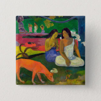 Arearea (The Red Dog), 1892 Pinback Button
