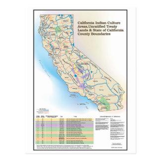Áreas de cultura indias de California - postal