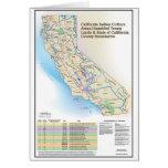 Áreas de cultura indias de California - tarjeta de