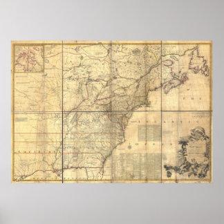 Áreas poseídas británicas y francesas del mapa de  póster