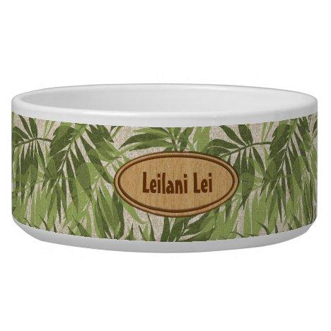 Areca Palms Hawaiian Tropical Vintage Bowl