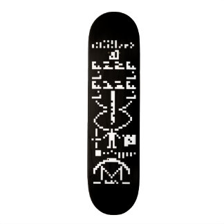 Arecibo Binary Message 1974 Skateboard