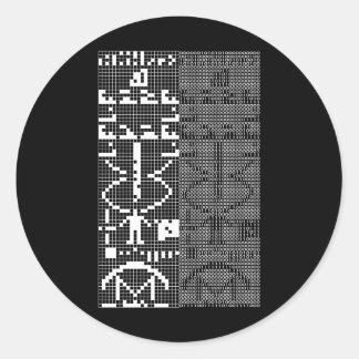 Arecibo_Message Classic Round Sticker