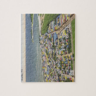 Arecibo Puerto Rico linen postcard Jigsaw Puzzle