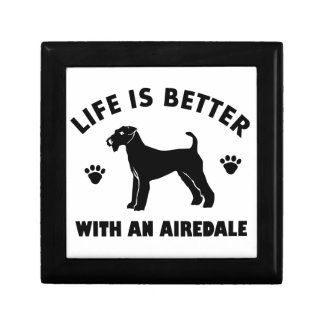 aredale terrier dog design jewelry box