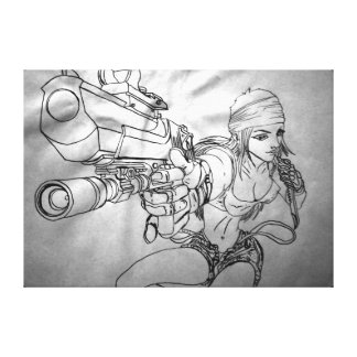 "Arek Art - Original Sketch Print - ""She's Bad!"""