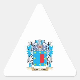 Arellano Coat Of Arms Triangle Stickers