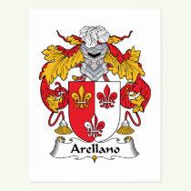 Arellano Family Crest Postcard