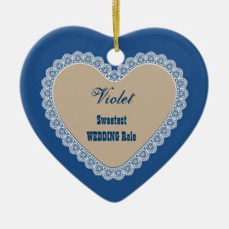 Arena azul H11 del cordón del nombre y del Adorno Navideño De Cerámica En Forma De Corazón