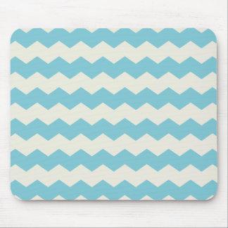 Arena blanca azul tropical Chevron Tapetes De Raton