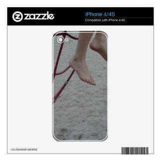 arena colgante del patio de los pies del marco que iPhone 4 calcomanías