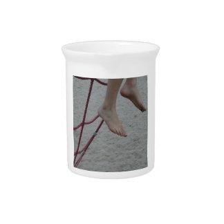 arena colgante del patio de los pies del marco que jarras para bebida