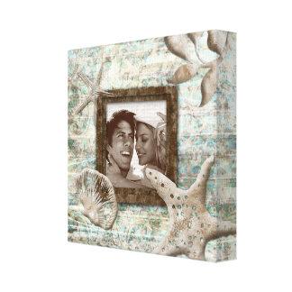 Arena de la plantilla de la foto de la impresión d impresión en tela