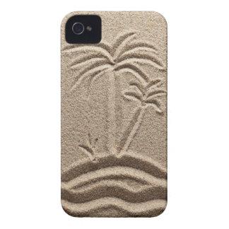 Arena de la playa de la isla del océano iPhone 4 Case-Mate protector