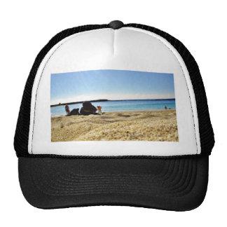 Arena de la playa gorras